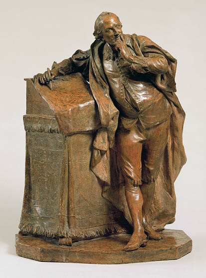 Sculpture of Shakespeare:  Study for statue for David Garrick's